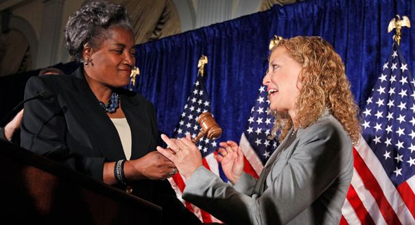 Donna Brazile and Debbie Wasserman Schultz