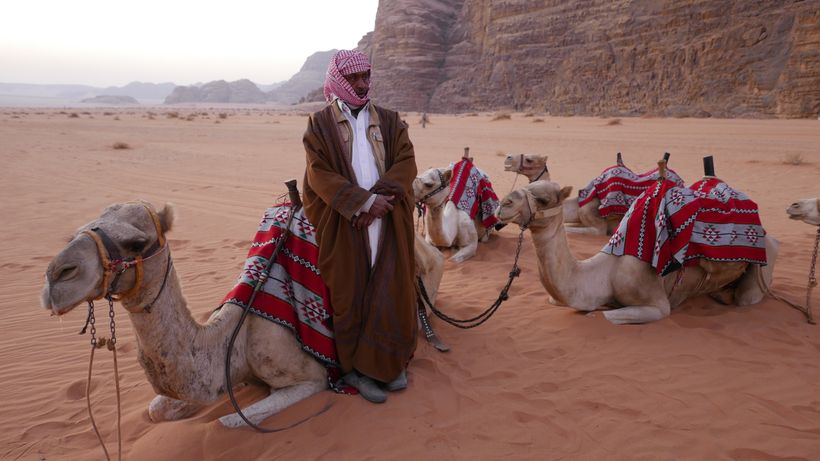 <strong>Bedouins' backyard—In Wadi Rum, the way of life and food preparation reflect nomadic traditions.</strong>