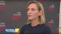 Uma Thurman prefiere morderse la lengua con los escándalos sexuales de