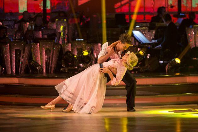 Mollie and AJ on the dance floor last