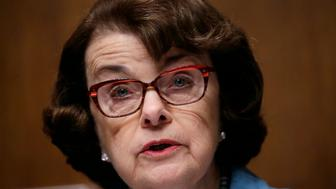 """Senate Judiciary Committee  ranking member Sen. Dianne Feinstein (D-CA) speaks during FBI Director James Comey's appearance before a Senate Judiciary Committee hearing on """"Oversight of the Federal Bureau of Investigation"""" on Capitol Hill in Washington, U.S., May 3, 2017. REUTERS/Kevin Lamarque"""