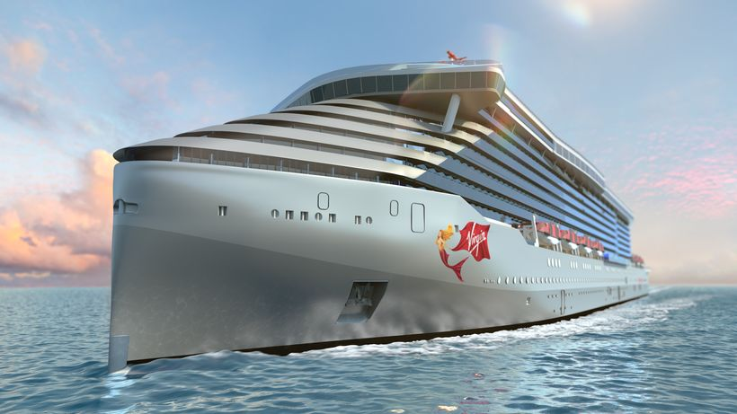 Rendering of Virgin's mega cruise ship coming soon.