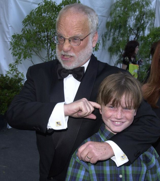 Richard Dreyfuss and his son Harry in 2000. Harry claims actor Kevin Spacey put his hand on his thigh...