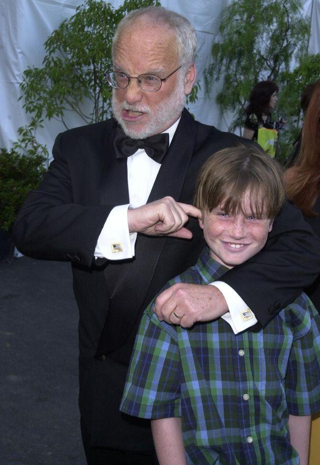 Richard Dreyfuss y su hijo Harry en el año