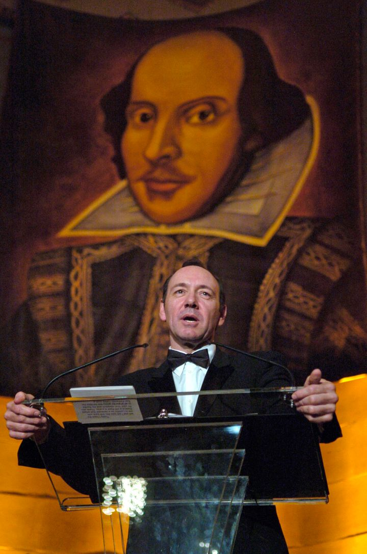 Kevin Spacey was practicing lines with Richard Dreyfuss and his son, Harry, for a play at London's Old Vic Theatre, wher