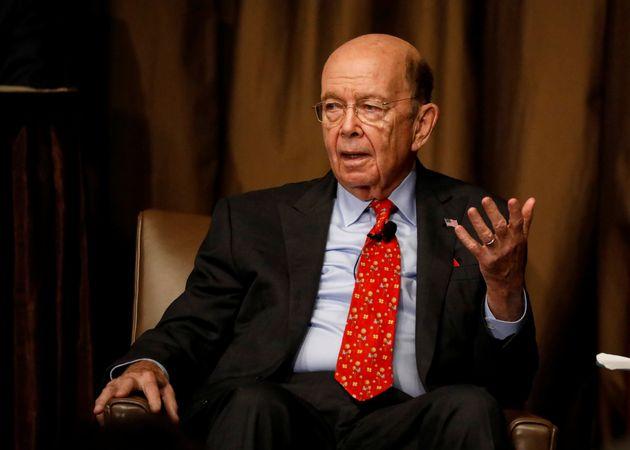 Commerce Secretary Wilbur Ross speaks to the Economic Club of New York in New York City on Oct. 25,