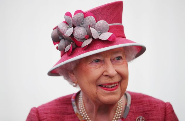 Britain's Queen Elizabeth attends The King's Troop Royal Horse Artillery 70th parade in Hyde Park in...