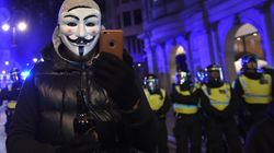 Thousands Protest In London For Million Mask
