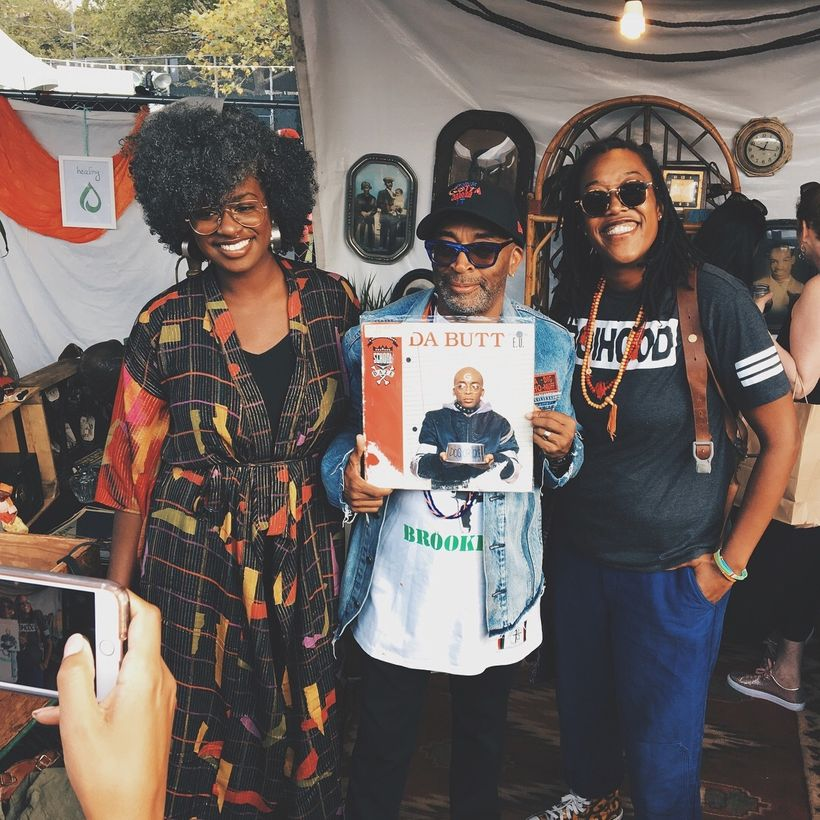 BLK MKT Vintage co-founders with Spike Lee at this year's AfroPunk Festival.