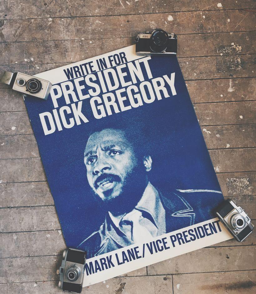 Vintage Dick Gregory Poster.
