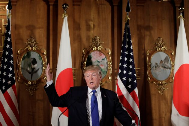 US President Donald Trump, seen above during a press conference in Tokyo on Monday, has said the Texas...