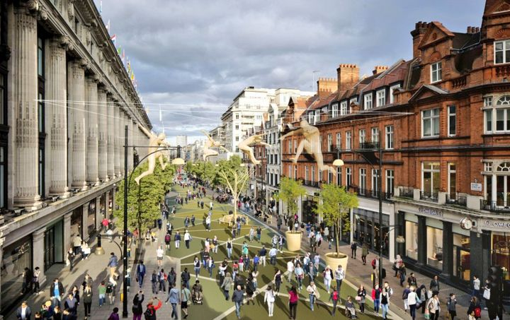 Large parts of London's Oxford Street could be pedestrianised by 2018