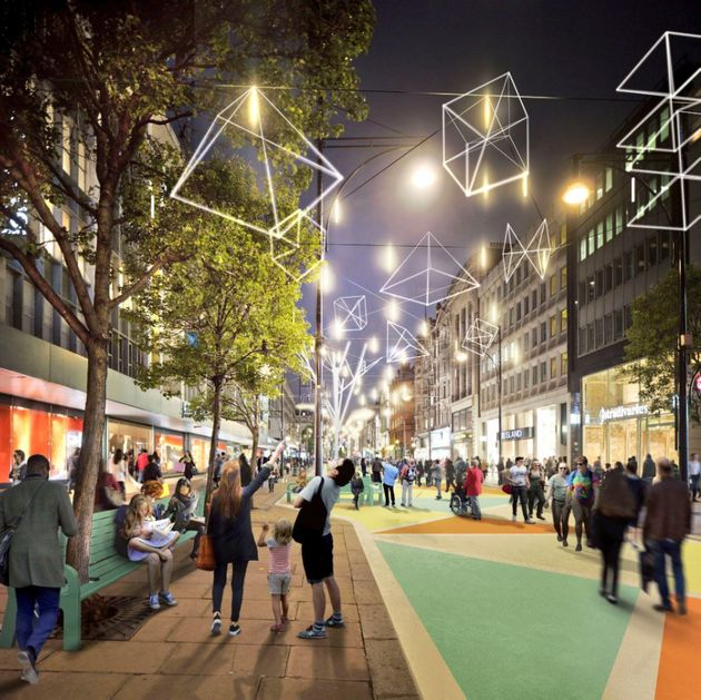The new look Oxford Street seen in pictures released by Mayor Sadiq