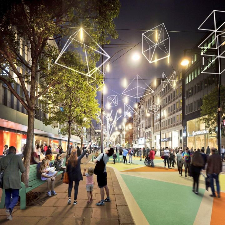 The new look Oxford Street seen in pictures released by Mayor Sadiq Khan