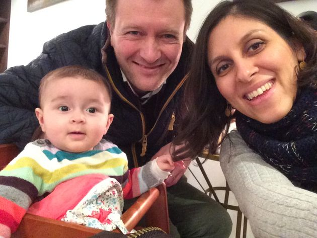 Nazanin Zaghari-Ratcliffe  pictured with her husband Richard and