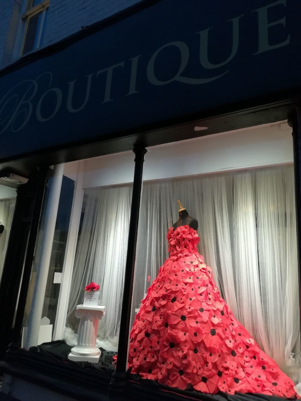 Swindon Bridal Boutique Marks Remembrance Sunday With Wedding Dress Made Of