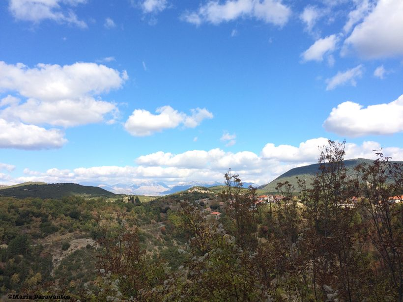 A view from the Menalon Trail hike near the village of Nymphasia, Greece.