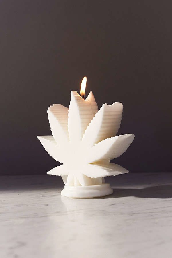 "WIK Studios Leaf Shaped Candle, $35 at <a href=""https://www.urbanoutfitters.com/shop/wik-studios-leaf-shaped-candle?category="
