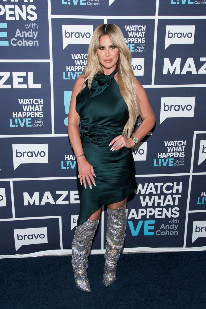 """Real Housewives"" star Kim Zolciak-Biermann wore her boots for <a href=""http://www.bravotv.com/watch-what-happens-live-with-a"