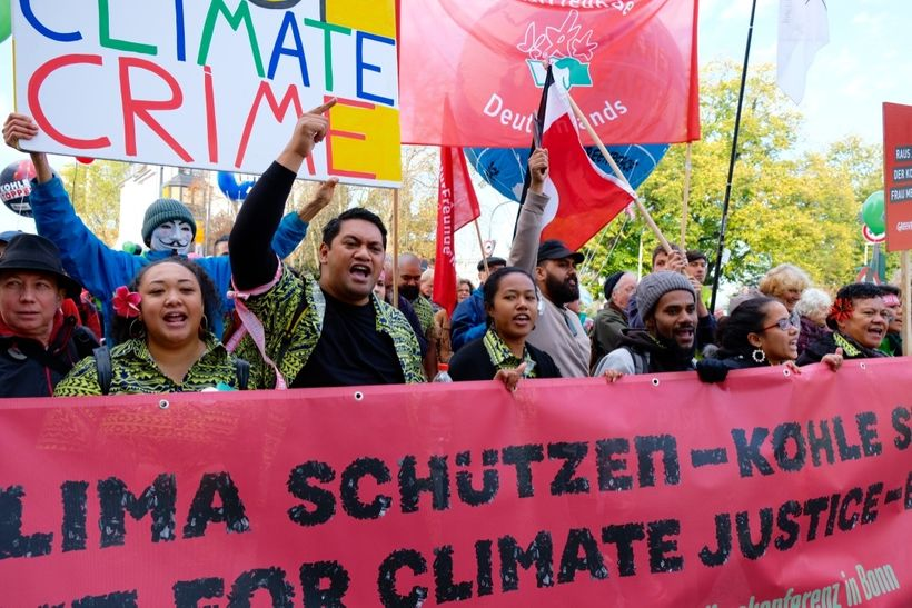 Over the weekend Germany held its largest climate march ever with tens of thousands marching the streets demanding an end to