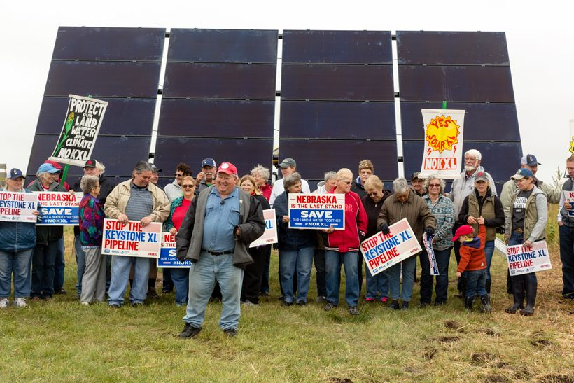 On September 16th, Bold Nebraska and Pipeline Fighters installed solar panels in the path of the proposed Keystone XL pipelin