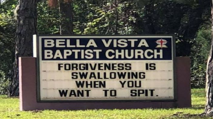 Church Apologises For Accidental Innuendo On Its