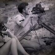Jane Goodall with her husband, Hugo van Lawick