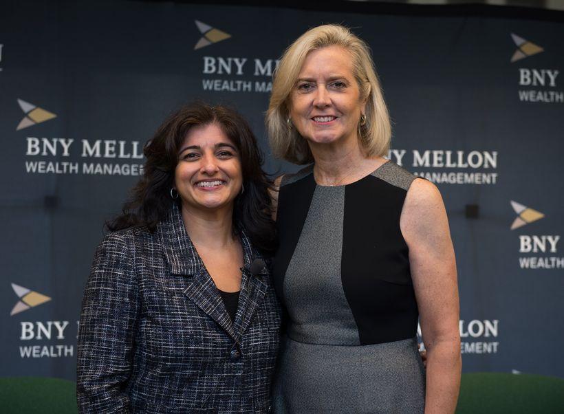 Seema Hingorani with Vicary Graham, President – New England of BNY Mellon Wealth Management