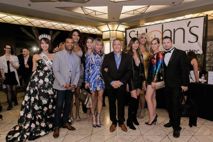 <em>Jim Mangia with Trans leaders, St. John's staff, and performers at this year's Eleganza Ball. </em>