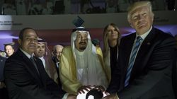 Trump Backs Saudi Leaders During Mass