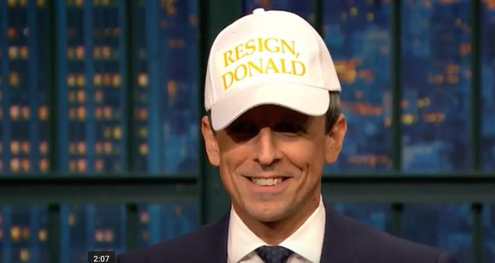 Seth Meyers Has A Not-So-Subtle Message For Donald Trump