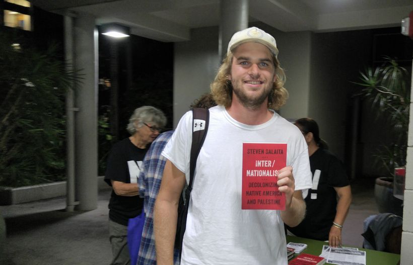 <em>Philosophy student, Brett Schlageter, had never heard of the BDS movement before he came to hear Salaita speak. But he le