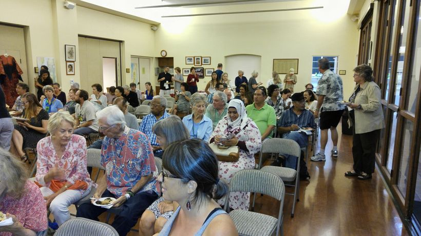 <em>A full house at St. Clement's, despite the traffic challenges created by the stopover of POTUS in Hawai`i.</em>