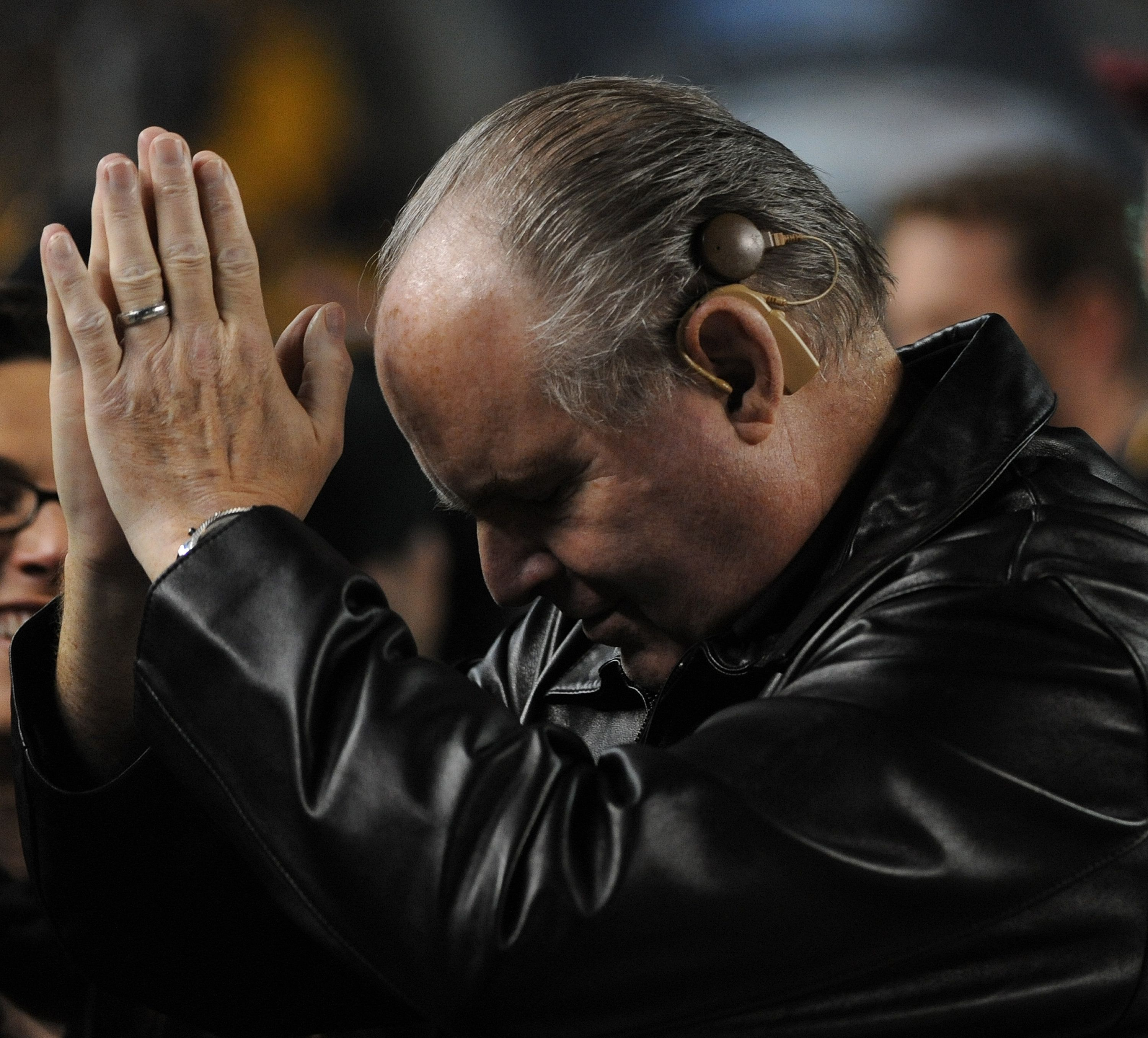 PITTSBURGH, PA - NOVEMBER 6:  Radio talk show host and political commentator Rush Limbaugh acknowledges cheers from fans as he stands on the sideline before a National Football League game between the Baltimore Ravens and Pittsburgh Steelers at Heinz Field on November 6, 2011 in Pittsburgh, Pennsylvania.  The Ravens defeated the Steelers 23-20.  (Photo by George Gojkovich/Getty Images)