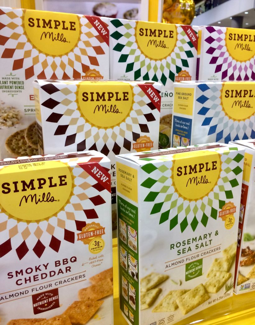 Almond flour crackers from Simple Mills