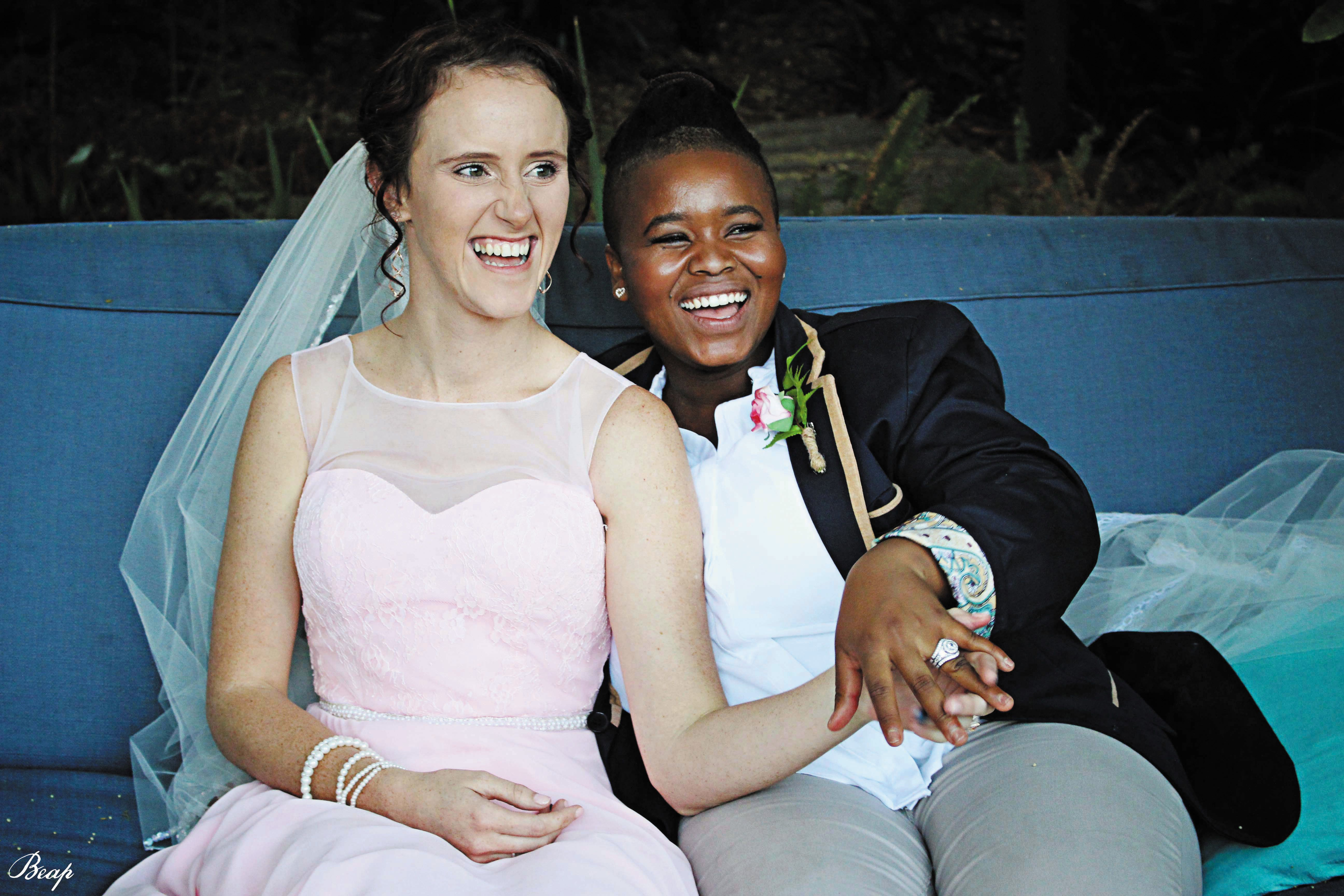 One of the real-life weddings featured in the magazine.