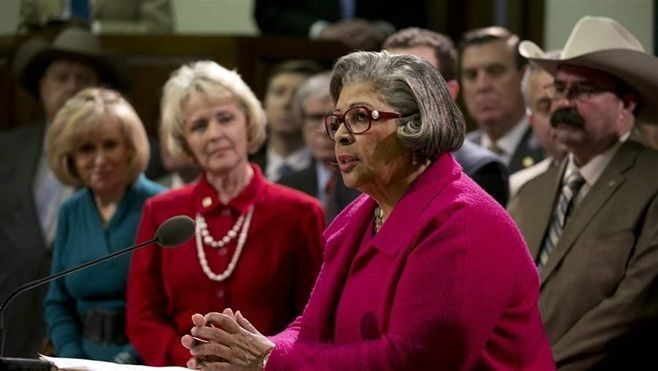 Texas state Rep. Senfronia Thompson, a Democrat, says female lawmakers in Texas don't face nearly as much sexual discriminati
