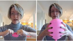 Woman Uses Balloon And Ping Pong Ball To Explain How Childbirth