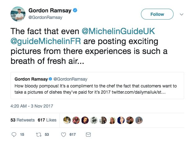 Gordon Ramsay's Surprising Support For People Who Photograph Their