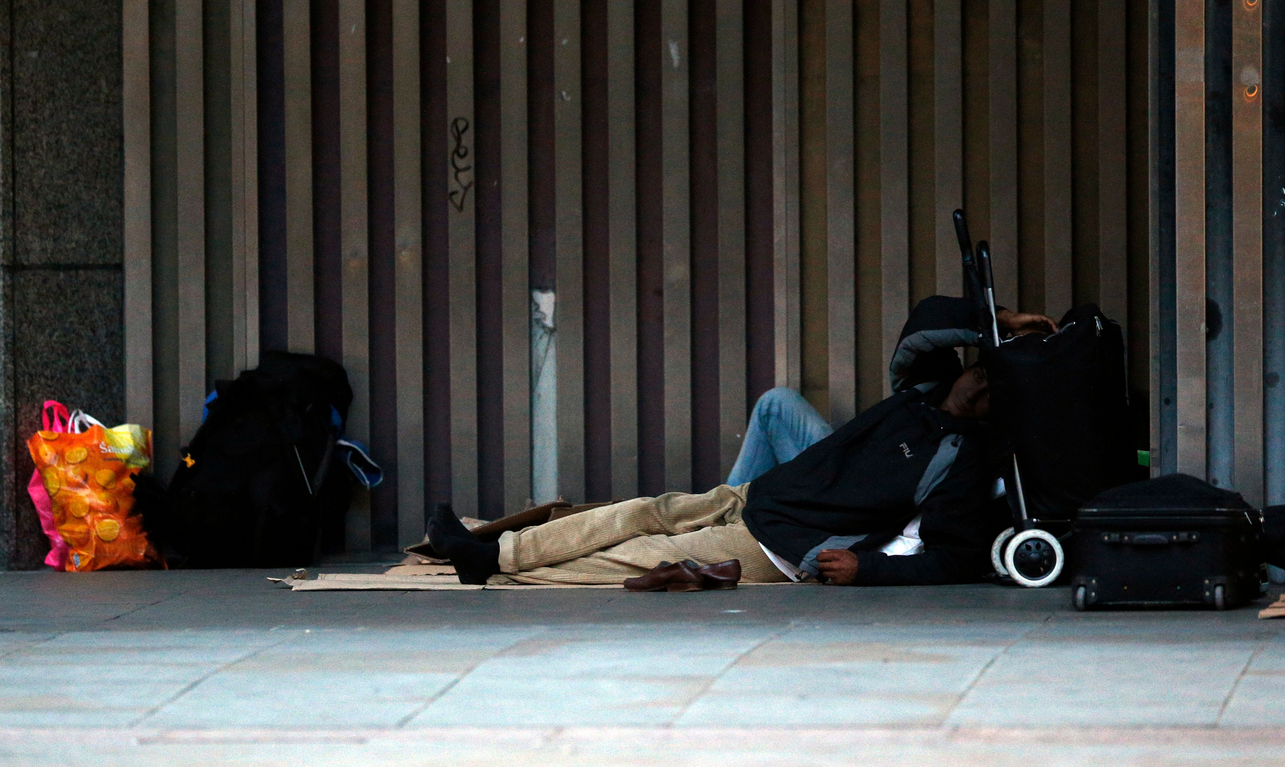 <strong>A person sleeps rough in Westminster</strong>