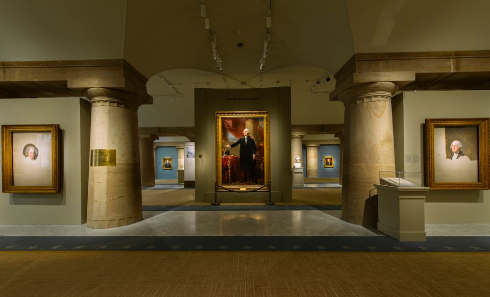The existing halls of the National Portrait Gallery's presidential
