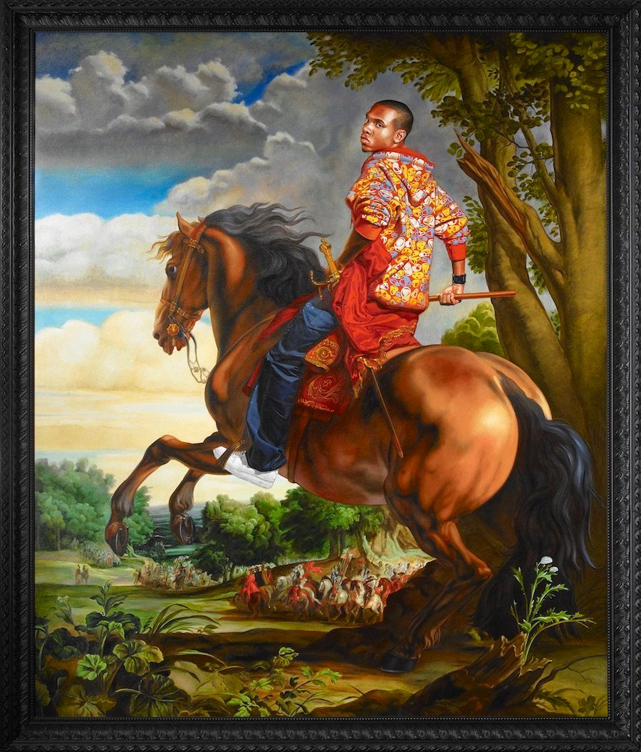 "Kehinde Wiley, ""Duc d'Arenberg,"" 2011, oil on linen"