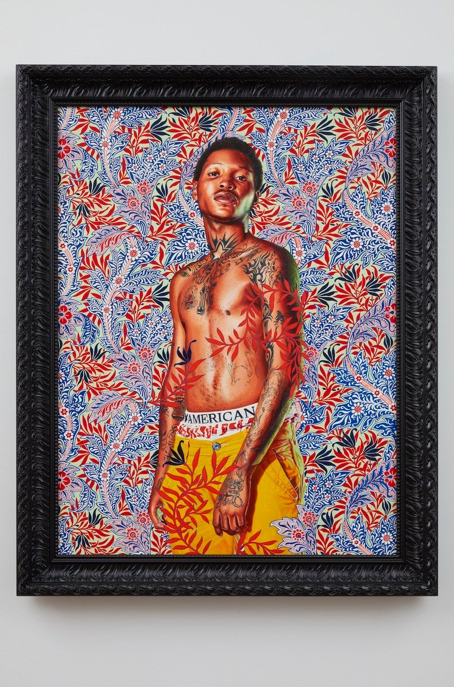 "Kehinde Wiley, ""Mrs. Charles E. Inches,"" 2013, oil on linen"