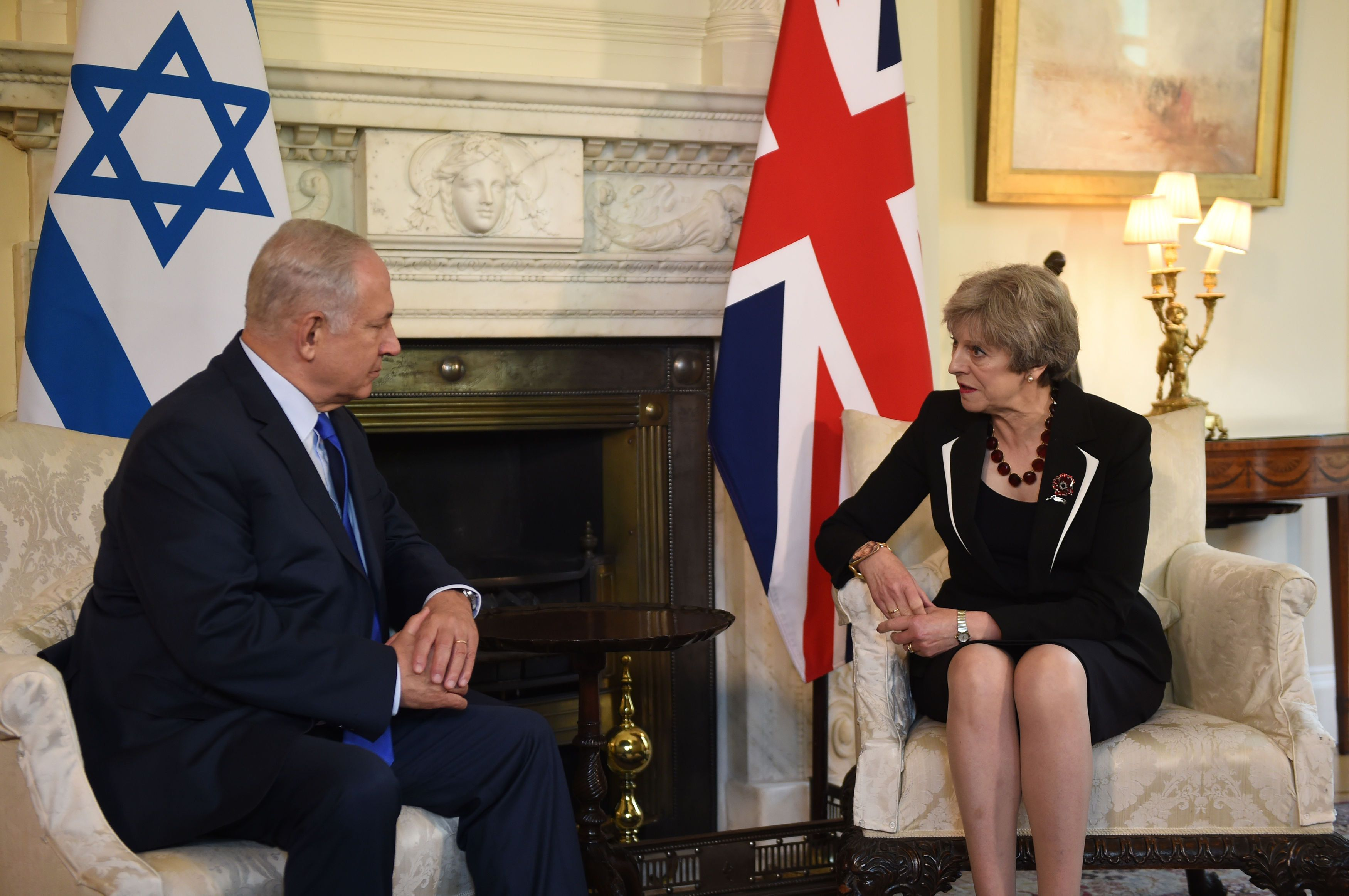 <i>Theresa May did not know that Priti Patel had meetings with the Israeli Prime Minister when she met with him in London last week.</i>
