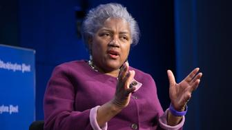 WASHINGTON, DC - MARCH 22: Donna Brazile, Former DNC Chairman speaking during The Washington Post via Getty Images live event:  First 100 Days:  HALFTIME REPORT on March 22, 2017 in Washington, DC.     (Photo by Kate Patterson for The Washington Post via Getty Images)