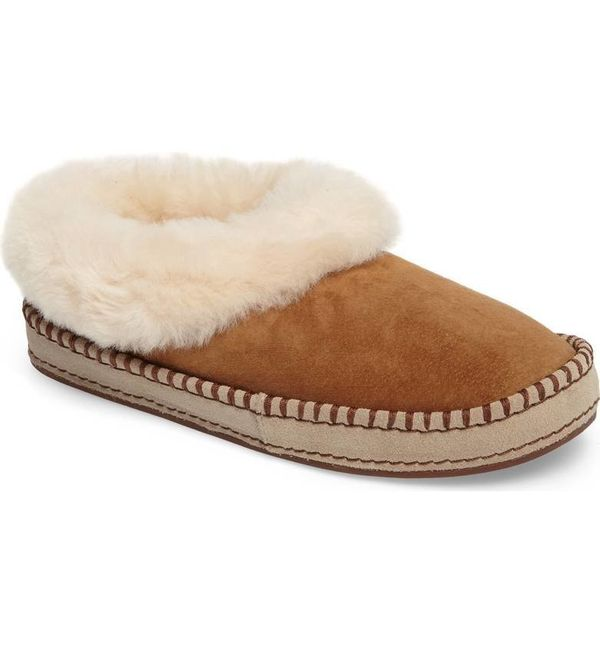 "The fluffy genuine shearling collar adds the perfect amount of plush to this <a href=""https://shop.nordstrom.com/s/ugg-wrin-g"