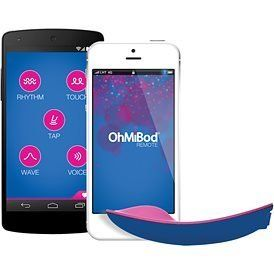 "Every aspect of our lives connects to our phone, so why shouldn't our sex toys? <a href=""http://www.babeland.com/ohmibod-blue"