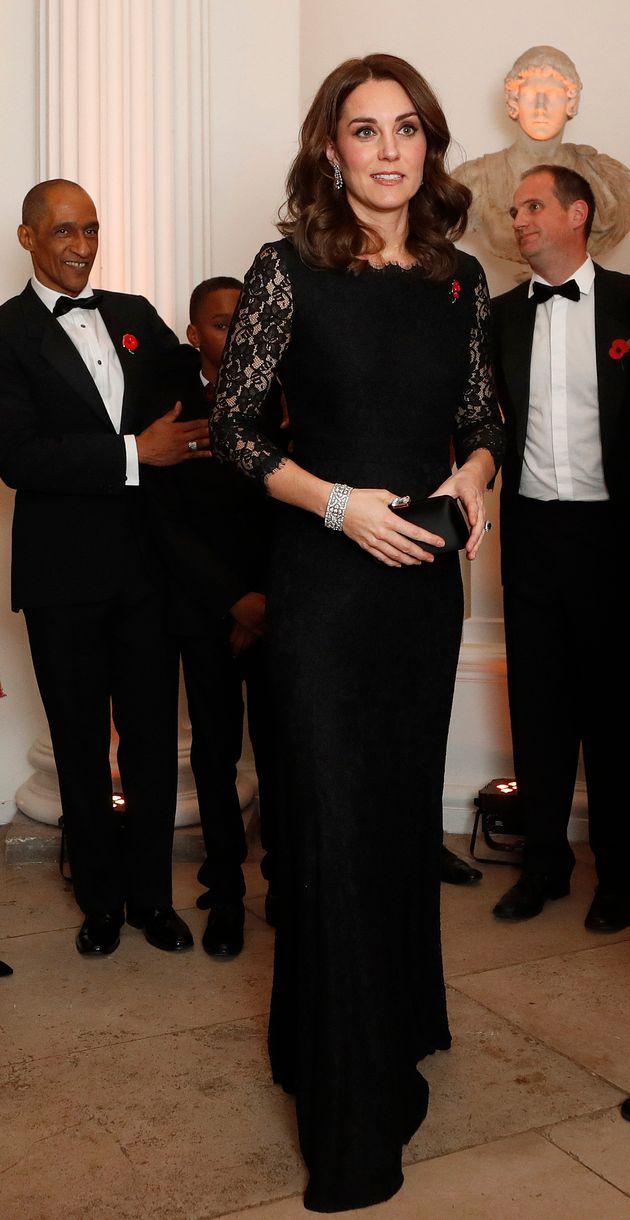 Pregnant Duchess Of Cambridge Wears Diane Von Furstenburg Gown For Anna Freud Centre Charity