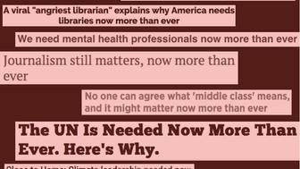 Headlines taken from HuffPost BoingBoing 9News KUSA The Easterner CNBC The National Interest Online Santa Rosa Press Democrat