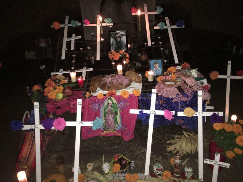 Migrant Shrine at Tucson's El Tiradito